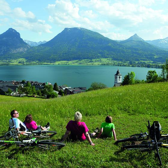 Mountainbike am Wolfgangsee | © WTG